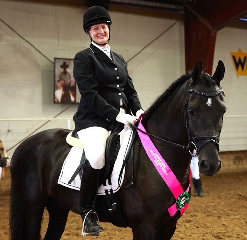 Friesian Sporthorse Merlin Training Level Reserve Champion